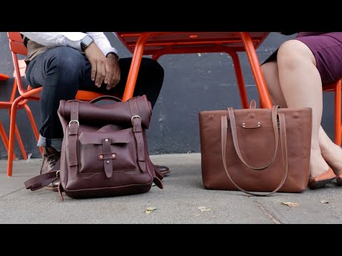 Classic Leather Tote Bag Video