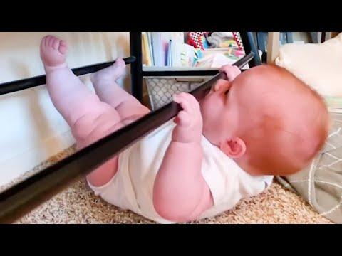 Adorables Bebés Se Ejercitan De Forma Divertida