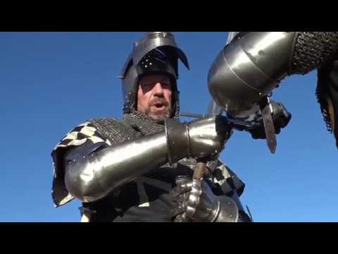 How knights fought during the 14th century.