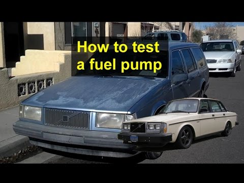 How to test the primary fuel pump on a Volvo 740, 940, and 240 vehicles. - VOTD