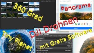 360 Grad Panorama und Tiny Planet von DJI Drohne mit Gratis Software für Facebook erstellen