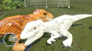 Lego Jurassic World - ALL DINOSAURS UNLOCKED & USED! ( Free Roam GamePlay )