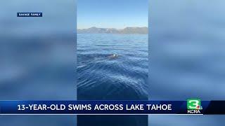 Teenage Boy Swims 12 Miles Across Lake Tahoe