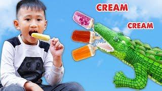 Trò Chơi Cá Sấu Đói Bụng - Chị Cá Sấu Tham Lam - Bé Nhím TV - Đồ Chơi Trẻ Em Thiếu Nhi