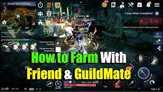Black Desert Mobile How to Play With Friend & GuildMate in Field Map