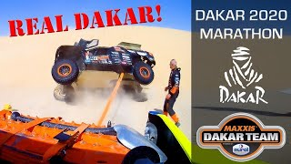Crash, stuck and truck roll Marathon stage of Dakar Rally 2020 with Tim and Tom Coronel