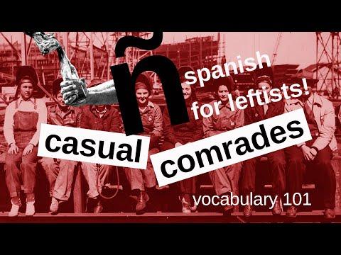 spanish for leftists! lesson 6 - ronda de vocabulario primera parte