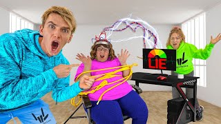 Mystery Neighbor ESCAPED Lie Detector Test!! (She Tricked Us)