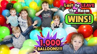 Last To Leave The BALLOON Room WINS! Tannerites Last To Leave Game!