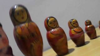 Funny INDIAN Matryoshka Doll Toy  Wooden Nesting Doll  Fine Arts