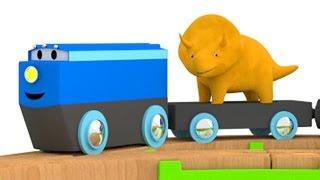Ucz się kolorów z pociągiem i Dino dinozaurem   bajka edukacyjna dla dzieci i niemowlaków