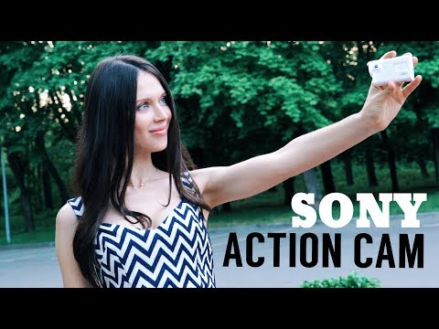 Экшн видеокамера Sony FDR-X 3000 белый - Видео