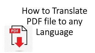 How to Translate a PDF to Any Language