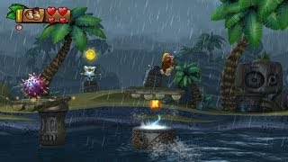 Donkey Kong Country Tropical Freeze 100% Walkthrough - World 4-A (KONG, Puzzle Pieces)