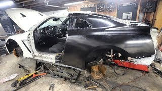Installing the New Quarter Panel On My Salvaged GTR
