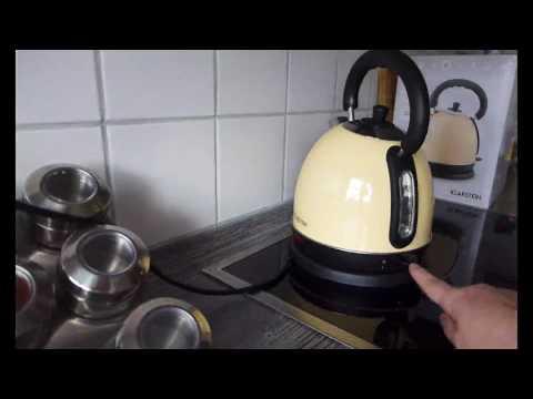 Klarstein Teatime Wasserkocher Teekocher, Ein Stück Nostalgie in die Küche holen