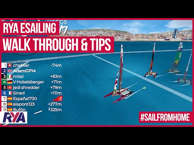 VIRTUAL SAILING REGATTA - E-SAILING Walk Through & Top Tips