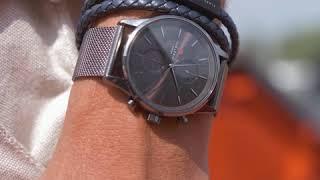 Sem Lewis Bakerloo Charing Cross leren armband zwart