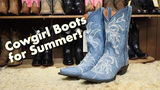 BEAUTIFUL Summer Cowgirl Boots From Dan Post