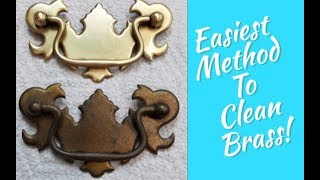 How To Easily Clean All Brass Silver Copper Metal-  Furniture Hardware Polishing