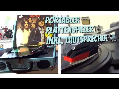 Retro Sound im Koffer - Tragbarer Plattenspieler inkl Boxen von 1byone im Test Review