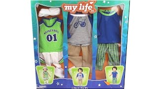 My Life As School Boy 18 Inch Doll A Day In The Life Outfit Pack Unboxing Toy Review