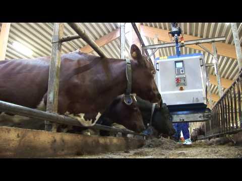 DeLaval OTS distribusjonsvogn - film på YouTube