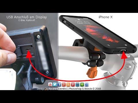 iPhone X mit E-Bike aufladen | Lightning auf Micro USB (HD)