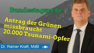 Bundestagsrede: Rainer Kraft verurteilt Grünen Mißbrauch der Tsunami-Opfer vom 11. März 2011
