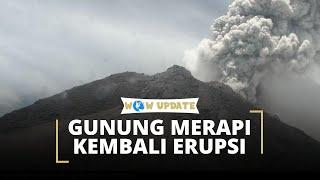 Gunung Merapi Mengalami Erupsi Keempat pada Tengah Malam, Status Berada pada Level Waspada