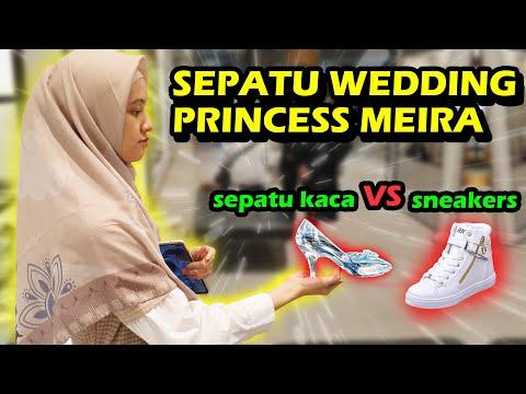 SEPATU WEDDING PRINCESS MEIRA PAKE SNEAKERS 😅😱