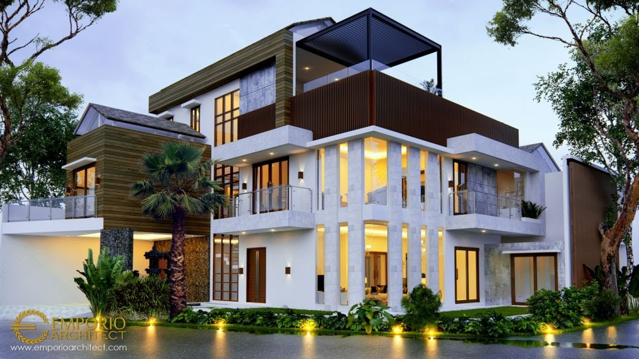 Video 3D Mr. Joky Modern House 3 Floors Design - Munggu, Badung, Bali