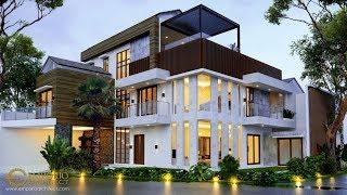 Video Desain Rumah Hook Modern 3 Lantai Bapak Joky di  Munggu, Badung, Bali