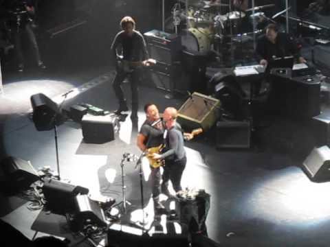 Bruce Springsteen & Sting - Can't Stand Losing You (Sting's 60th Birthday Party) at Beacon 10-1-2011