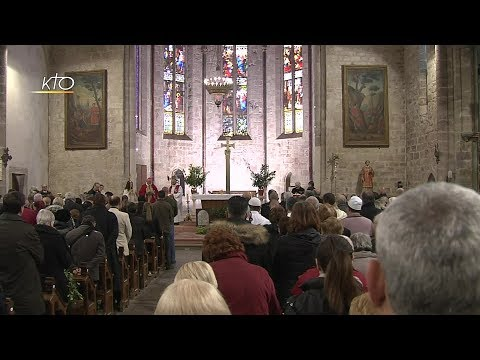 Messe des Rameaux en l'église Saint-Etienne de Trèbes (Aude)