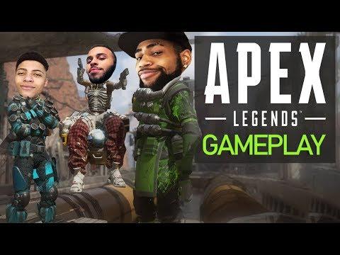 , title : 'APEX LEGENDS GAMEPLAY | HIGH KILL FUNNY GAME!? - NEW BATTLE ROYALE! Ft. Myth & Hamlinz'