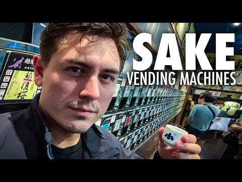 Japanese Sake Vending Machines Are Amazing