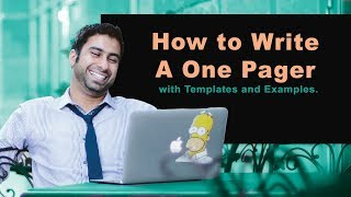 How To Write A One Pager With Templates And Examples.
