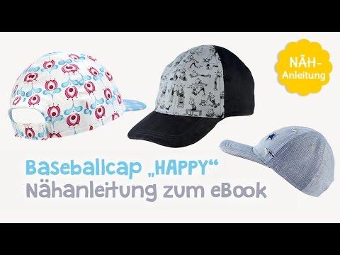 "Nähanleitung für Schnittmuster Baseballcap / Schirmmütze ""Happy"" (Kinder & Erwachsene) - kullaloo"