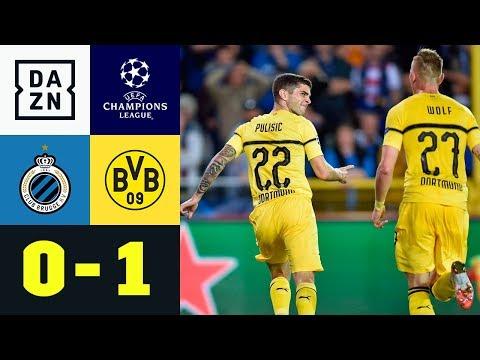 Dusel-Bogenlampe von Christian Pulisic: Brügge - Dortmund 0:1   UEFA CL   DAZN Highlights