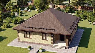 Проект дома 085-B, Площадь дома: 85 м2, Размер дома:  10x9,6 м