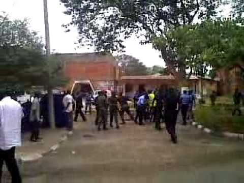 Police brutality on students unibuja
