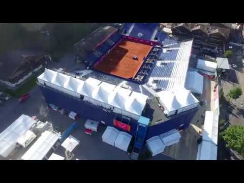 Drone movie of the Roy Emerson Arena in Gstaad