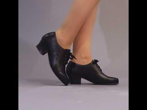 PRE-ORDER Claire 1940s Oxfords (Black)(1920-1960)