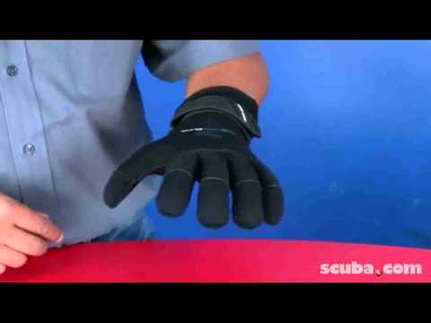 Deep See 3mm Thermocline Velcro Gloves Video review
