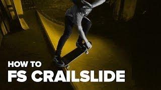 Смотреть онлайн Учимся трюку на скейтборде: fs crailslide