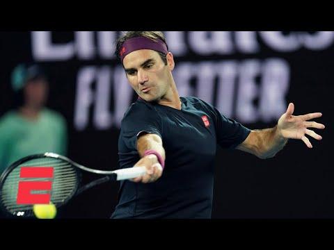 Roger Federer defeats Steve Johnson in straight sets in Round 1 | 2020 Australian Open Highlights