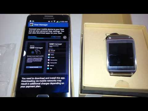 how to connect samsung galaxy gear to your note 3