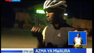 Azma ya mwendesha baisikeli James Mwaura akijiandaa kwa mashindano ya Red Bull