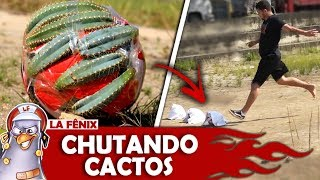 DESAFIO DO CHUTE SURPRESA COM BOLA DE CACTOS